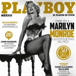 Playboy México hizo un tributo a Marilyn Monroe cuando se cumplió 50 años de su publicación.