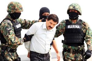 Aprehensión del Chapo Guzmán en Febrero de 2014.