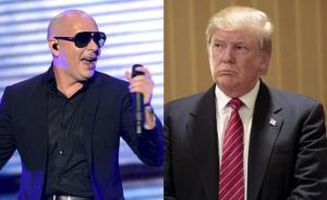 El cantante Pitbull lanzó una amenaza a Donald Trump, para que se cuide del Chapo.