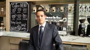 Juan Eduardo Reza, barista.