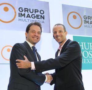 Asistieron Heberto Taracena, director de División Digital, Grupo Imagen Multimedia, Jared Grusd, CEO, The Huffington Post. FOTO: MATEO REYES ARELLANO