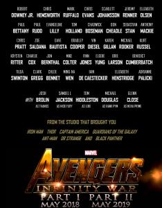 Recientemente Robert Downey Jr había publicado un fan made sobre como sería el poster de Infinity War.