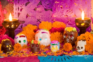 Mexican Day Of The Dead Altar Front
