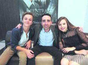 Luis de la rosa (actor), Joseph Hemsani (director) y Miranda Kay (actriz)