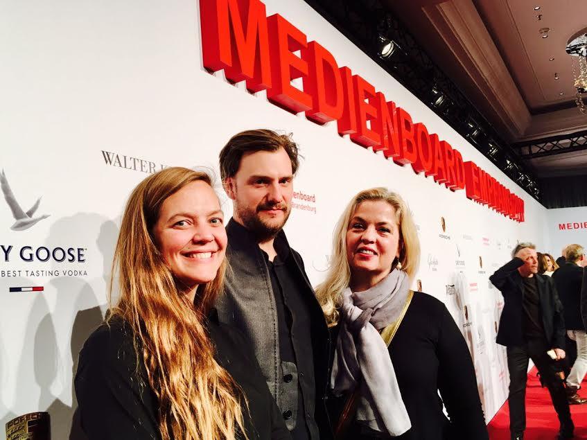 Nina Rodríguez (Directora de Programación del Giff), Jan Zabeli (Cineasta Alemán) y Sarah Hoch (Fundadora del Giff)