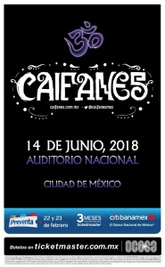 flyer caifanes auditorio nacional
