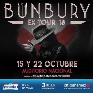 Bunbury Auditorio Nacional 2018