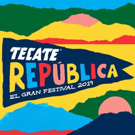 cartel del festival tecate republica de muchos colores