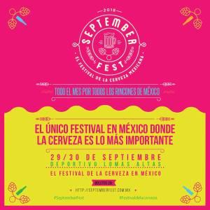 imagen que anuncia al festival color rosa y amarillo